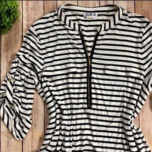 Calvin Klein   Striped Jersey Top